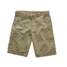Tamanho 30-42 Verão big men shorts masculino casual carga shorts de algodão  fino dos homens em linha reta na altura do joelho-co. db9962f5833ac