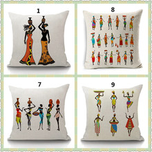 Buy Maiyubo African Tribal Culture Cushion Cover Cotton Linen Africa Original Women Life Throw Pillow Case Chair Pillow Covers PC460 for $3.56 in AliExpress store