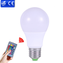 RGB LED Bulbs Light E27 3W 5W 7W LED Dimmable Bulb Multicolor Changeable+IR Remote Controller RGB Lampada Indoor Lighting Lamp(China)