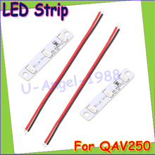 Wholesale 2pcs/lot LED strips Light Board 3S for QAV250 ZMR250 Quadcopter FPV RC ( Blue red white for choose) Drop Freeship(China)