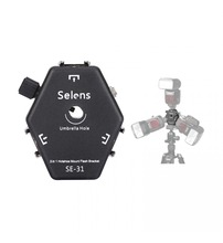 Selens SE-31 3 hotshoes for speedlite speedlight flash umbrella holder Light Stand Bracket with triggering loop(China)