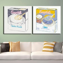 2PCS set CAMPBELLS SOUP BOX ONION pop art oil painting Prints on canvas No frame Pictures Decor For Living Room free shipping