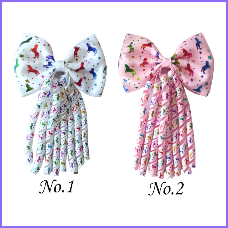 """50 BLESSING Good Girl  4.5/"""" Double Bowknot Hair Bow Clip Accessories Rhinestone"""