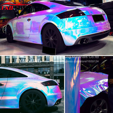 New arrival rainbow holographic chrome film Glossy Mirror Rainbow Holographic Film Rainbow chrome vinyl car wrap