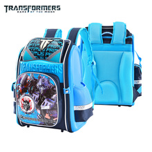 TRANSFORMERS cartoon safety orthopedic school bag books bag shoulder backpack portfolio for boys Grade 2-6