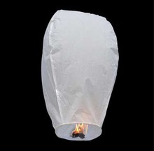 White Paper Chinese Sky Lanterns Wishing Lamp light for Birthday Wedding Party