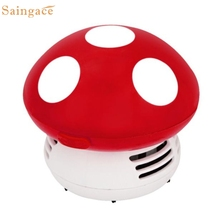 Saingace Home Cute Mini Mushroom Corner Desk Table Dust Vacuum Cleaner Sweeper 1 Piece
