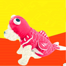 Pet Cat Dog Fish Goldfish Costume Cosplay Clothes Winter Warm Small Puppy Jacket XS to XL