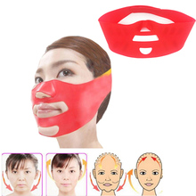 Silicone Facial Slimming Bandage Face 3D V-line Shaper Relaxation Lift Up Belt Face Mask Double Chin Face Thining Band Massage(China)