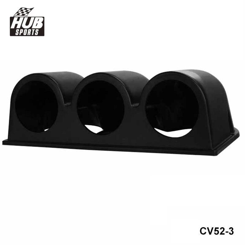 "Hubsports - Universal Car Black 2"" 52mm 3 Triple Hole Dash Gauge Pod Mount Holder ABS For TOYOTA SUPRA MA70 7M-GT HU-CV52-3"