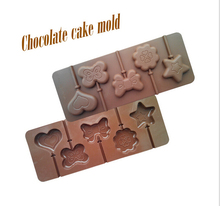 1PCS Food Grade Silicone Material, Bow,Love Stars Shape For Chocolate Lollipop Mold, Cake Tools, Cookie , Jelly, Ice Mold L024