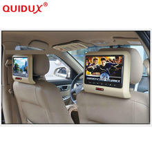 QUIDUX 2PCS 10.1 inch HD LED Car Headrest Monitor DVD Player Built-in Speaker LED with USB/SD IR FM transmitter game pad disc(China)