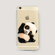 Animal Print Kung fu sleepy Panda Phone Case Ultra Thin Soft TPU Case Coque For Iphone 5 5S SE 6 6s Plus 7 7Plus Funda Cover(China)