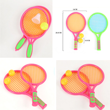 Plastic Ping-pong Badminton Tennis Racket Ball Kids Outdoor Sports Toy Set Outdoor Beach Parent-Child Game Educational Toys