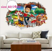 7Style 3D Anime Doggy Cartoon Patrol Dog Stickers For Kids Decor Animal Mural Art Cartoon Puppy Dog Toy  Figure