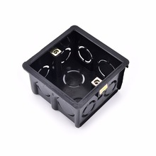 Practical 86 cassette lighting mounting box Black Wall Plate Box for 86 Type wall plate switch and socket stair step light lamp(China)