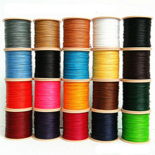 HQ 1mm Thai Waxed Polyester Cord Wax Beading String Thread for Macrame Jewelry 80M