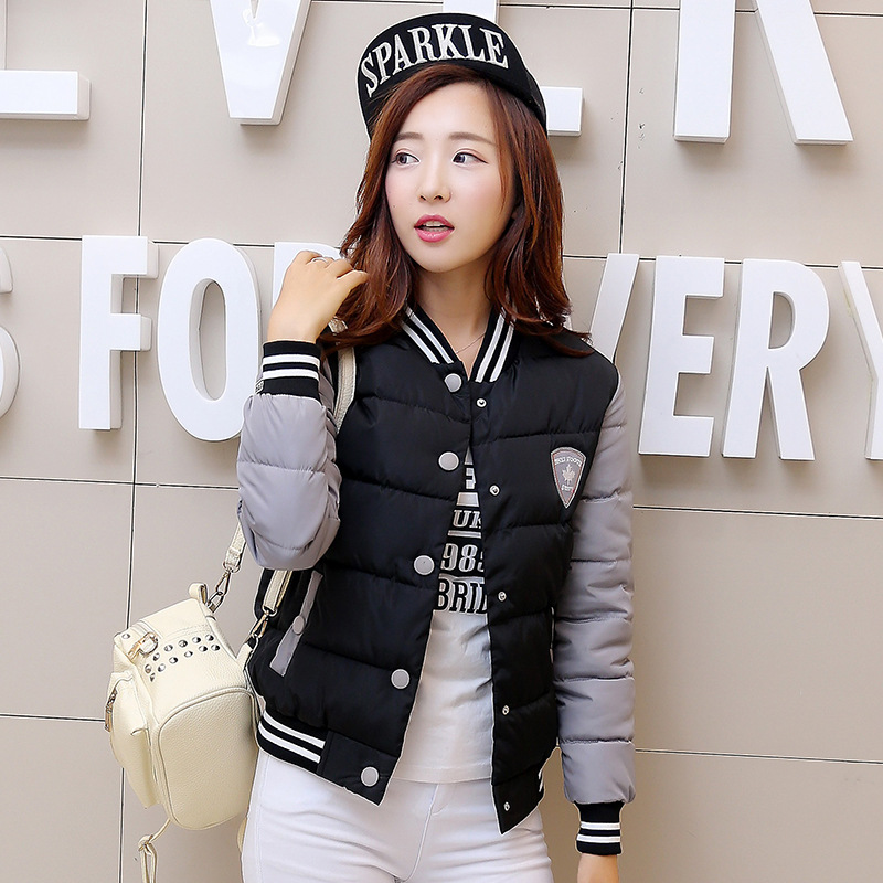 2016New Winter Brief paragraph jacket Thin Cotton female Stand collar Baseball Cotton-padded Small jacket YRF161115Одежда и ак�е��уары<br><br><br>Aliexpress