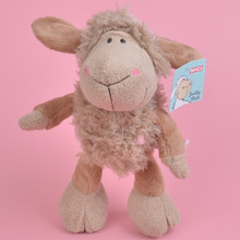 Brown Color Lamp Plush Toy, NICI Sheep for Cute Baby/ Kids Gift, Plush Doll Free Shipping(China)