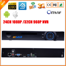 ONVIF HI3535 FULL HD 1080P CCTV NVR 24CH Surveillance Video Recorder 32CH 960P NVR Motion Detect FTP 3G Wifi Function 2SATA Port
