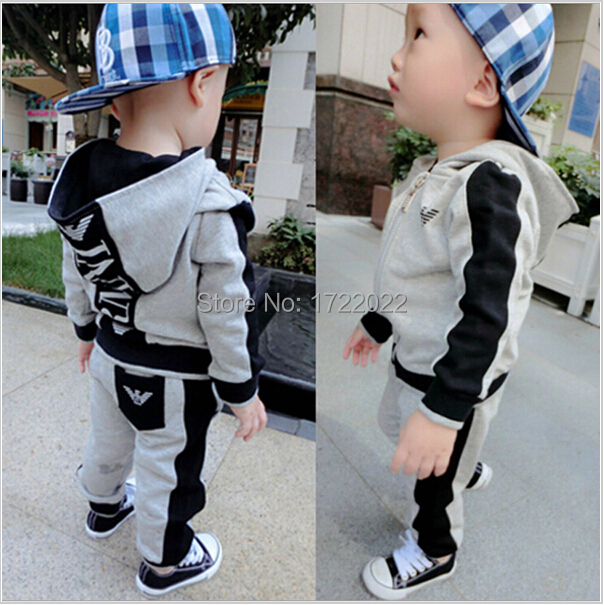 2015 New Children clothing set Sport Package Zipper suit Boy/Girl sets Tops + pants 2PCS 100% Cotton Kids clothes Baby clothing<br><br>Aliexpress