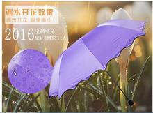 1 piece Thicken Black Coating Creative Water Flowering Sunscreen Anti-UV Parasol Colorful Nice Sunshade Umbrella(China)