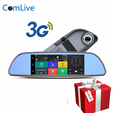 Camlive 3G Type Android 5.0 Car Dvrs Bluetooth GPS Navigation FM transmitter Dual Lens Rearview Mirror Camera+FHD1080P Camera