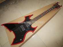 high quality Strange Modle Nice B.C. Rich Sigmature Special Black Finish Electric Guitar with Red Binding, Free Shipping-146-1(China)