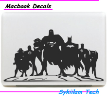 Superman Cartoon Justice League Sticker for apple Macbook Skin Air 11 12 13 Pro 13 15 17 Retina Decal Loptop Wall Car Vinyl Logo