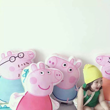 creative pig shape plush throw pillow pink pig George stuffed soft toy animal plush cushion home sofa decoration gift for kids