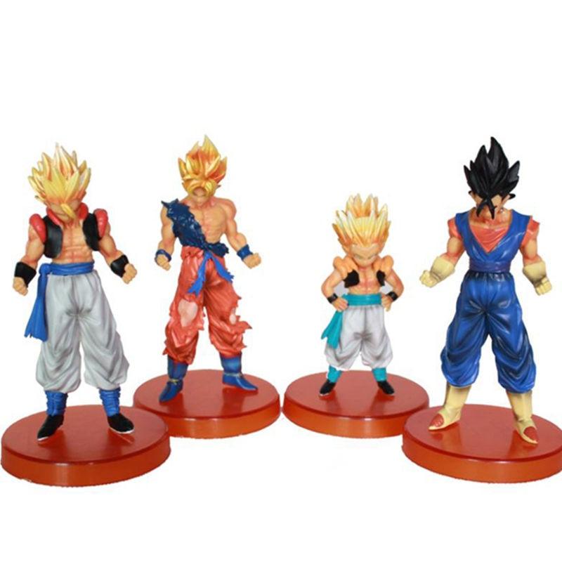 Dragon Ball Figures Goku Dahl Gotenks Super Saiyan 4pcs/set PVC Action Figure Model Collection Toy Gift<br><br>Aliexpress
