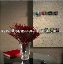 discount gittler modern style cream color 1263 vermiculite stone luxury mica wallpaper home decoration(China)