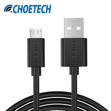 [Original Micro USB Cable]CHOE 5V 2.4A Micro USB 2.0 Charging Data Cable Length 0.5m/1.65ft for Smartphones and Tablets(Black)(China)