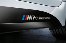 Aliauto 2 x Newest Car Styling ///M Performance Car Stickers Decals for BMW X1 X3 X5 X6 3series 5 Series 7 Series(China)