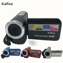 KaRue Mini Digital Video Camera DV138 1.5 inch Screen 15MP Resolution 5MP Cmos 8X Digital Zoom For children gift(China)