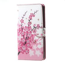 Pink Plum Magnetic Flip Case for Huawei Y6 2017 MYA-L11 MYA-L41 Y 6 2017 Case Phone Cover for Huawei Nova Young MYA L11 L41 Bags(China)