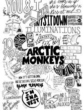 Arctic Monkeys Painting Indie Rock Band Music Poster 50x75cm Free Shipping Canvas Print