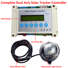 DC12V/24V Complete Electronic Dual Axis Solar Tracking Tracker Controller With LCD Display for PV Solar Panel Sunlight Tracking