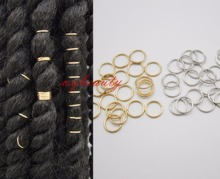20pcs/lot hair braid dreadlock bead cuff clip Braid Hoop Circle approx 10mm inner diameter