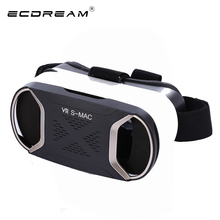 Original VR box ultra HD green light glass anti-radiation High quality 3D virtual reality glasses cardboard for 4' to 5.5' phone(China)