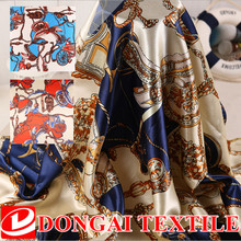 1*1.5m wholesale print satin fabric for sewing vintage silk material ,scarf fabric(China)