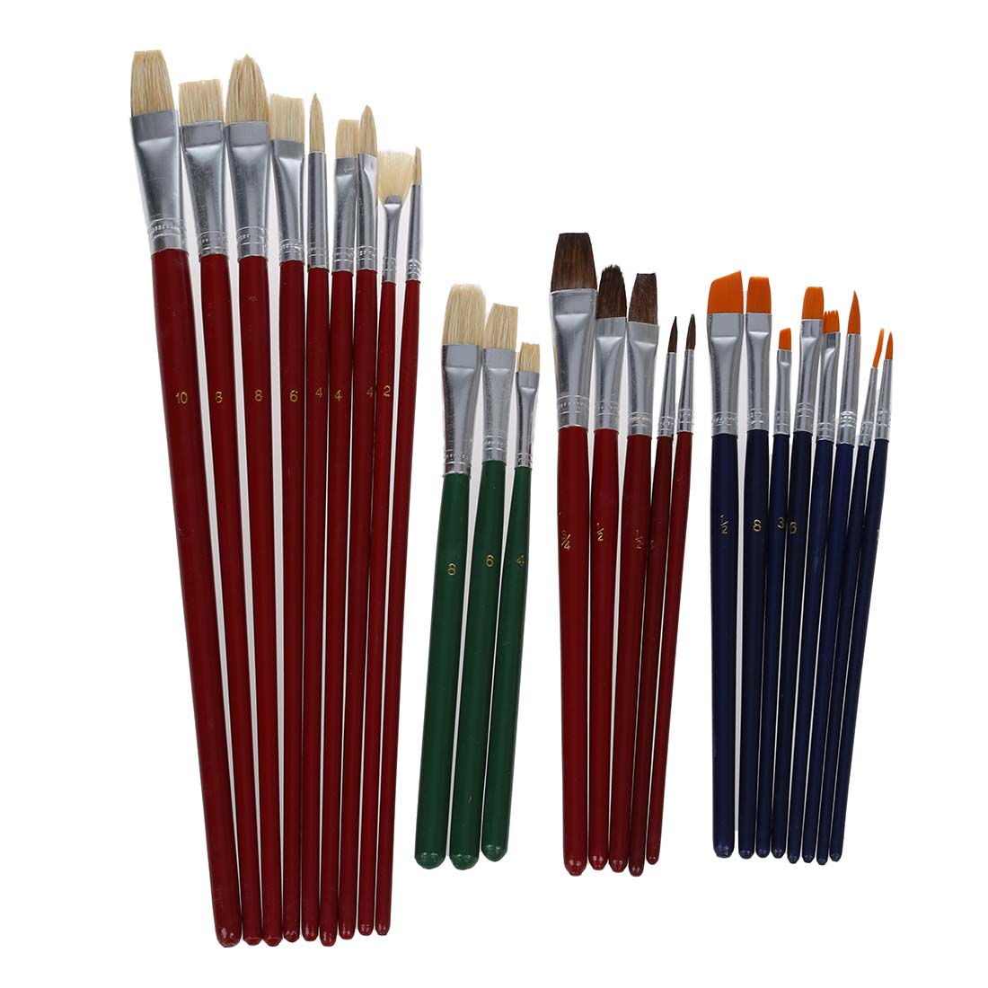 NEW 25 Brush Value Set For Oils Acrylic Watercolor HB-S17