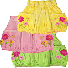 Baby skirts Girls all cotton nostalgia washed,three color flowers butterflies embroidery kids wear Childrens skirts MH 2323