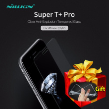 NILLKIN Super Thin T+Pro 0.15mm Clear Tempered Glass for iPhone 6 6S 7 Plus 6Plus 7Plus Screen Protector Film Gift Soft TPU Case