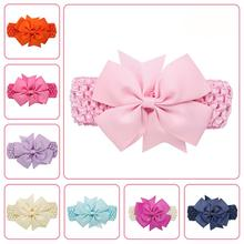 Girls Wave Headbands Cotton Bowknot Hair Accessories kids Hair Band bandage accessory crown girl Pince cheveux Flower Headwear(China)