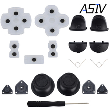 1 set of L1 R1 L2 R2 Trigger Buttons+Springs+Joystick Thumb Sticks+Conductive Rubber+Screwdriver for PS4 Controller Dualshock 4