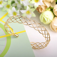 Fashion Steel Mesh Copper Bangles Joias Ouro Adjustable Love Bracelets For Woman Famous Brand Jewelry Bijoux Femme Pulseiras