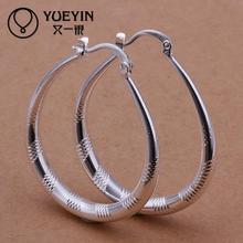 Accessories New Design silver plated jewelry Female's Big Hoop earrings Fashion brincos Earhook Trendy Ornaments HOT