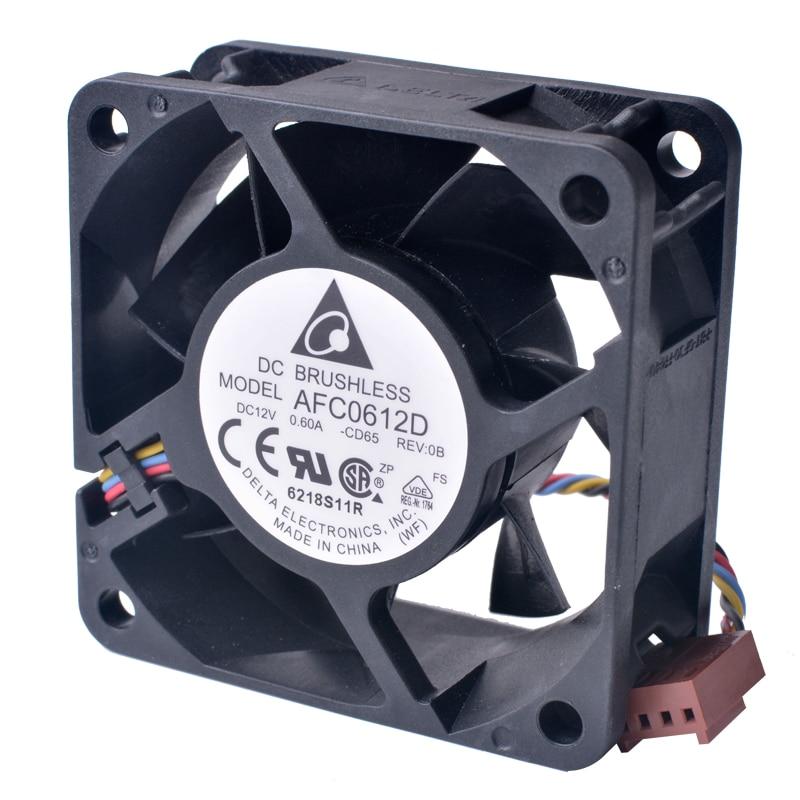 DELTA AFC0612D 6CM 60*60*25MM 12V 0.60A 4Pin Cooling Fan