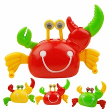 3 Pcs Clockwork Crab High New Kids Toddler Wind-up Wind Up Toys Crab Walking Crab Trap Fishing Toy(China)
